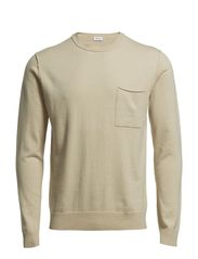 M. Cotton Merino R-Neck - Grain