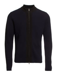 M. Sharp Wool Zip Jacket - Navy/Black
