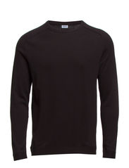 M. Cotton Cashmere Raglan Sweater - Black