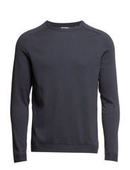 M. Cotton Cashmere Raglan Sweater - Graue