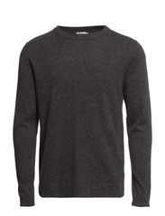 M. Lt Tweed Sweater - Antracite Mel.