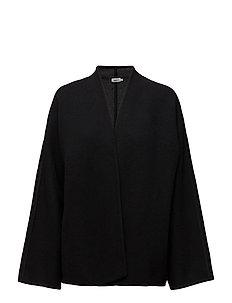 Two Tone Wool Jacket - BLACK /ANT