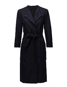 Blair Belt Coat - NAVY