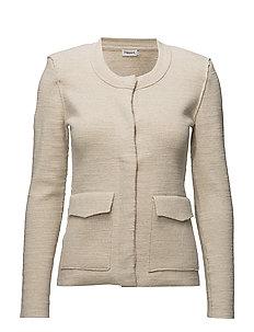Structured Cardi Jacket - BONE MEL.
