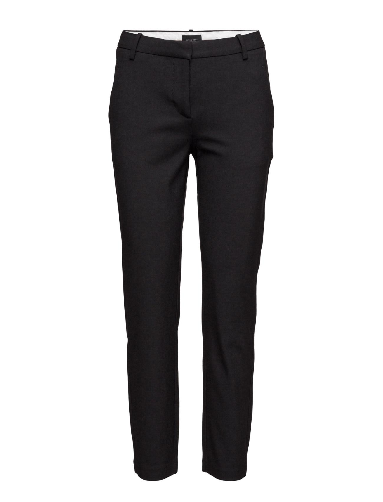 Kylie 396 Crop, Black, Pants FIVEUNITS Bukser til Kvinder i Sort
