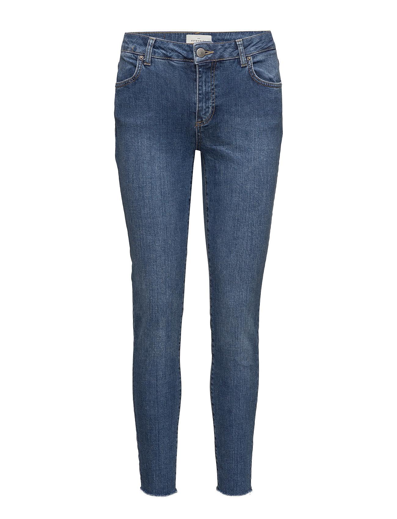 Penelope 410 Crop, Blue Wood Raw, Jeans FIVEUNITS Skinny til Damer i