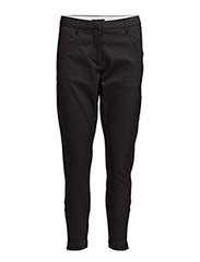 Angelie 238 Zip, Black Jeggin, Pants - BLACK