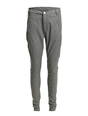 Jolie 388 Rib, Grey Pin Stripe, Pants - Grey Pin Stripe