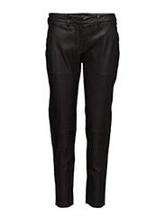 Kylie 632 Crop, Black Leather, Pants - BLACK LEATHER