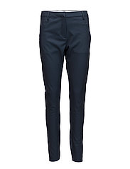 Angelie 225 Navy Melange Slim, Pants - NAVY MELANGE SLIM