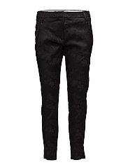 Angelie 325 Split, Black Jacquard, Pants - BLACK JACQUARD