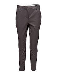 Angelie 613 Split, Purple Grey Grid, Pants - PURPLE GREY GRID