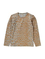 GOD t-shirt - Leopard gold