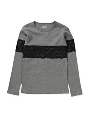 JEG t-shirt - Black sewn lace