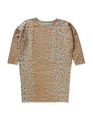 ROCK dress - Leopard gold