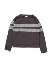 CLAUS Knitted Sweater - Light Grey