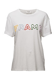 ROLLED FRAME TEE - BLANC