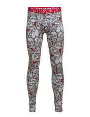 Assorted Skulls Long Johns - White