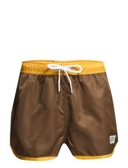 Saint Paul Swim Shorts - Brown/Orange