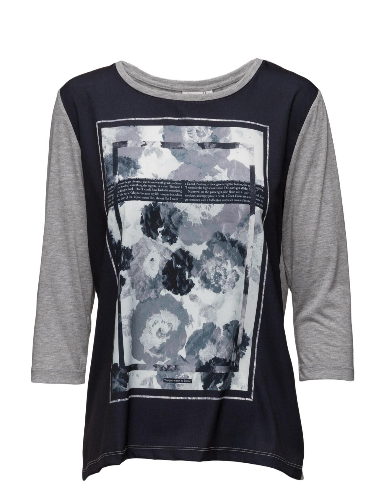 Allar 1 T-Shirt Fransa Langærmede til Damer i Mørk Peacoat Mix