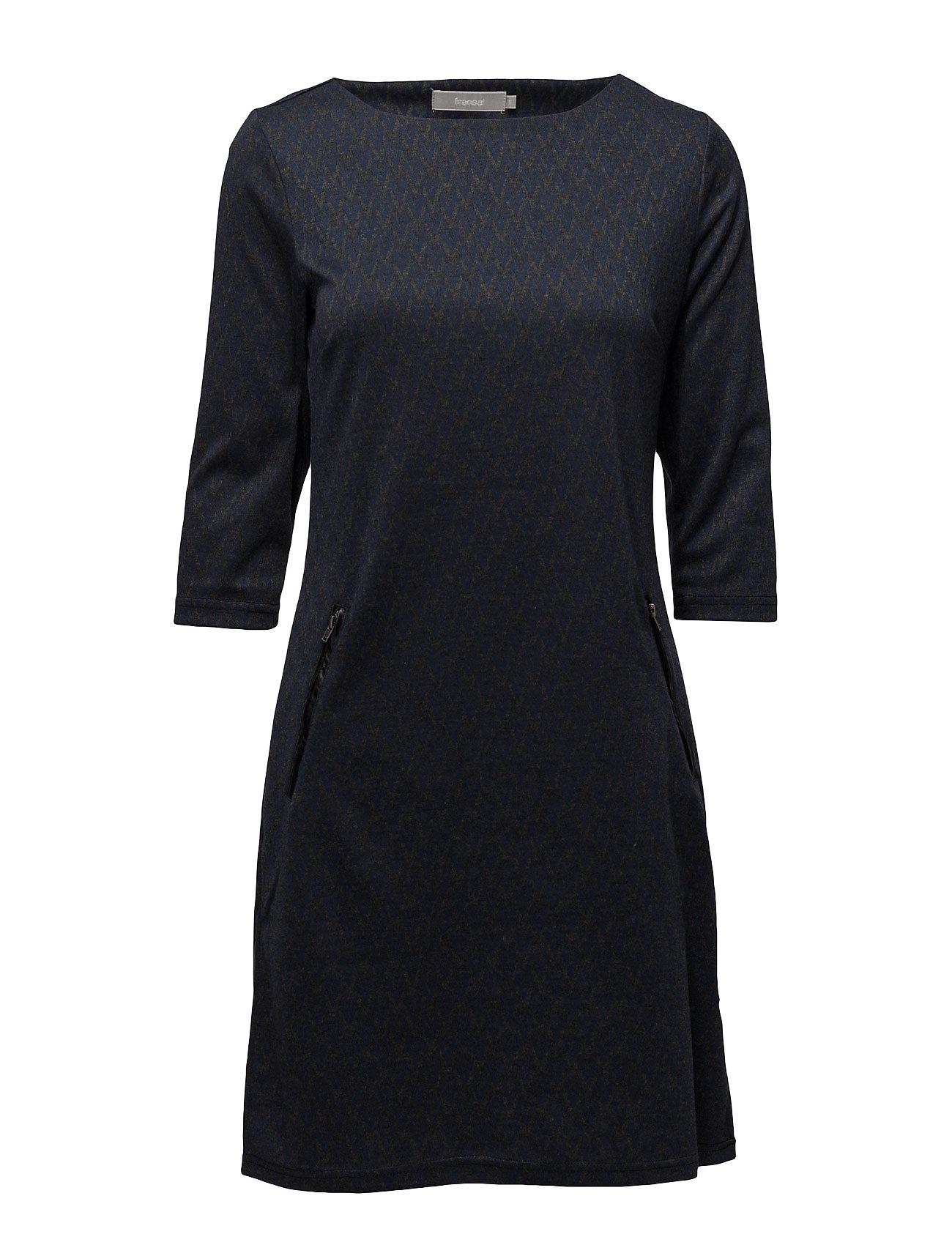 Jivar 1 Dress Fransa Knælange & mellemlange til Damer i Black Iris Mix