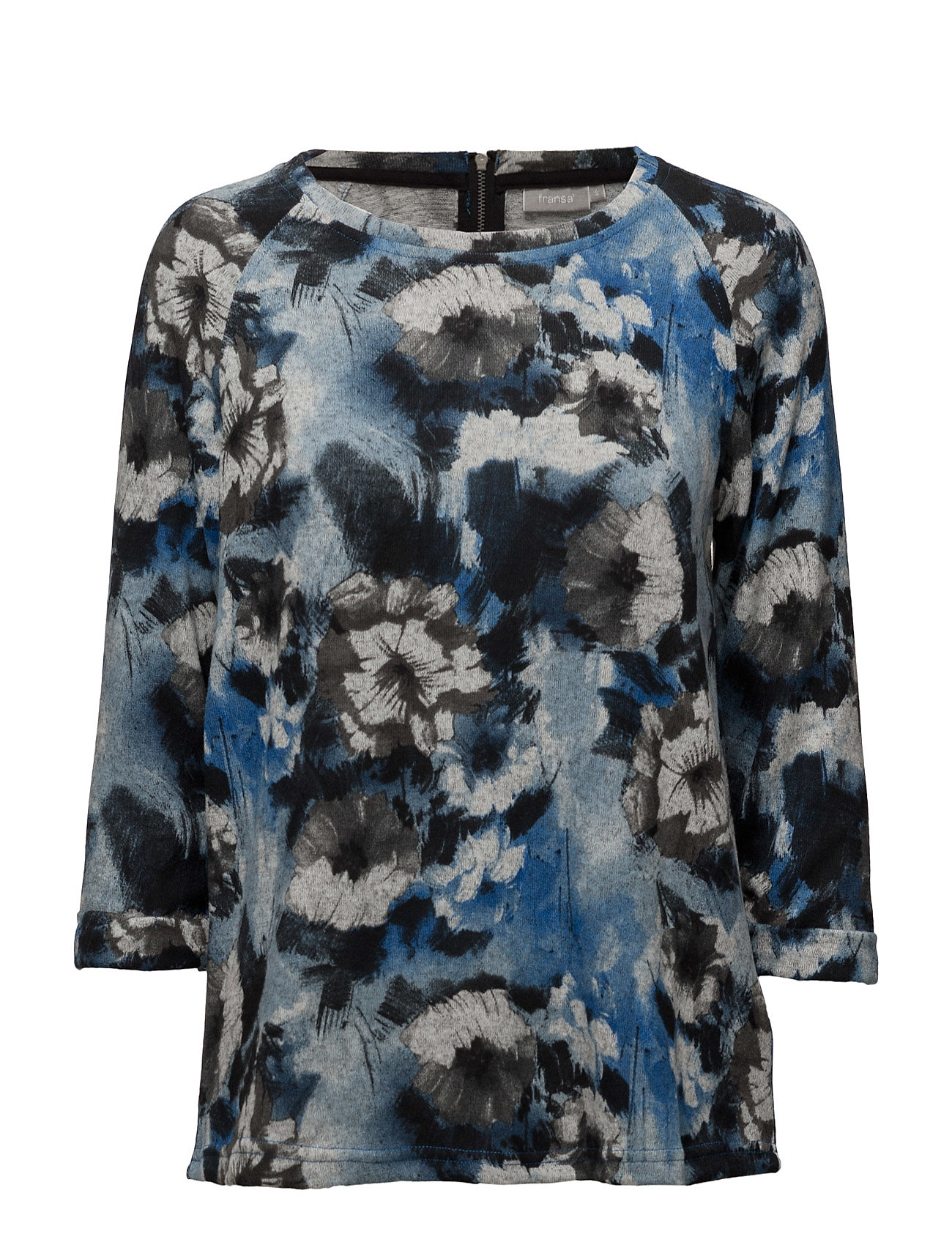 Jisoft 6 T-Shirt Fransa Langærmede til Damer i Black Iris Mix