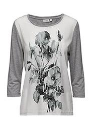 Riflower 1 T-shirt - LIGHT GREY MELANGE MIX