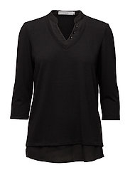 Imrex 1 Blouse Shirt details - CAMP - BLACK