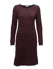 Jimella 1 Dress - RUBY WINE MELANGE