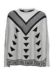 Jicurved 1 Pullover - GARDENIA MELANGE