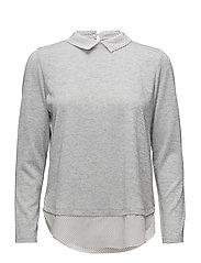 Mirex 1 Blouse - LIGHT GREY MELANGE