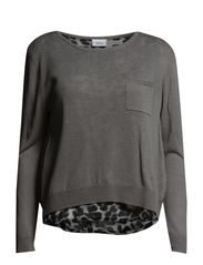 Jatrim 1 Pullover - Cement grey mix