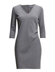 Lanous 1 Dress - Light grey melange