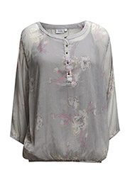 Lerose 1 Blouse - Cement grey mix