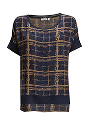 Obgraphic 1 Blouse - MIDNIGHT BLUE MIX