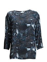 Obstroke 1 Blouse - MIDNIGHT BLUE MIX