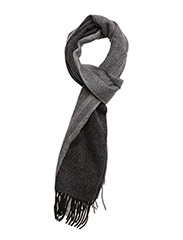TIPPED WOVEN SCARF - F08 BLK/SNOW