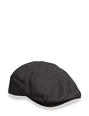WAXED CANVAS FLAT CAP - 102 BLACK