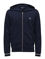 LOOPBACK HOODED SWEAT - 266 CARBON BLUE