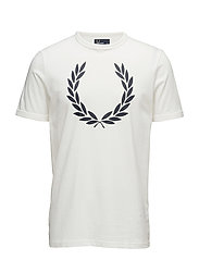 LAUREL WREATH T-SHIRT - 129 SNOW WHITE