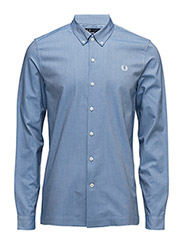 BRUSHED OXFORD SHIRT - 111 MID BLUE