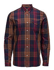 TWILL CHECK SHIRT - D60 ROSEWOOD