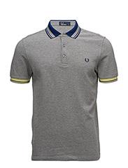 Collar Pique Shirt - 420 STEEL MARL