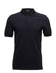 Collar Pique Shirt - NAVY