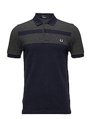 Panel Pique Shirt - BLUE GRANITE