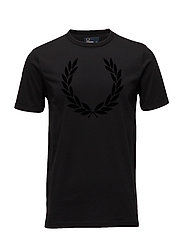 Laurel Wreath T-Shirt - BLACK