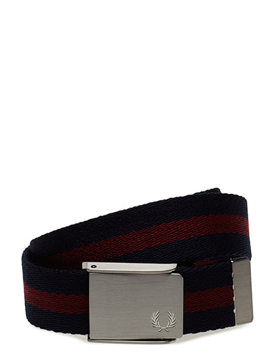 M2 Tipped Webbing Belt (169 Navy/maroon) (279.30 kr) - Fred Perry |  Boozt.com