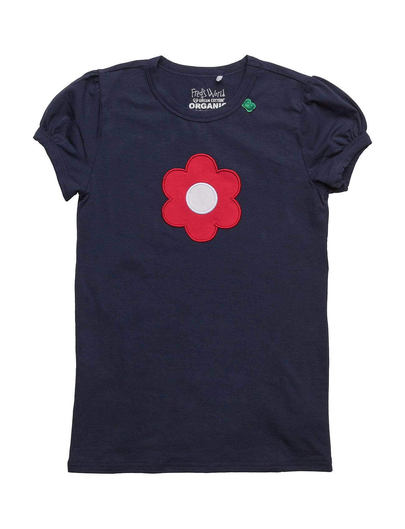 Flower Front T Freds World Kortærmede t-shirts til Børn i Navy blå