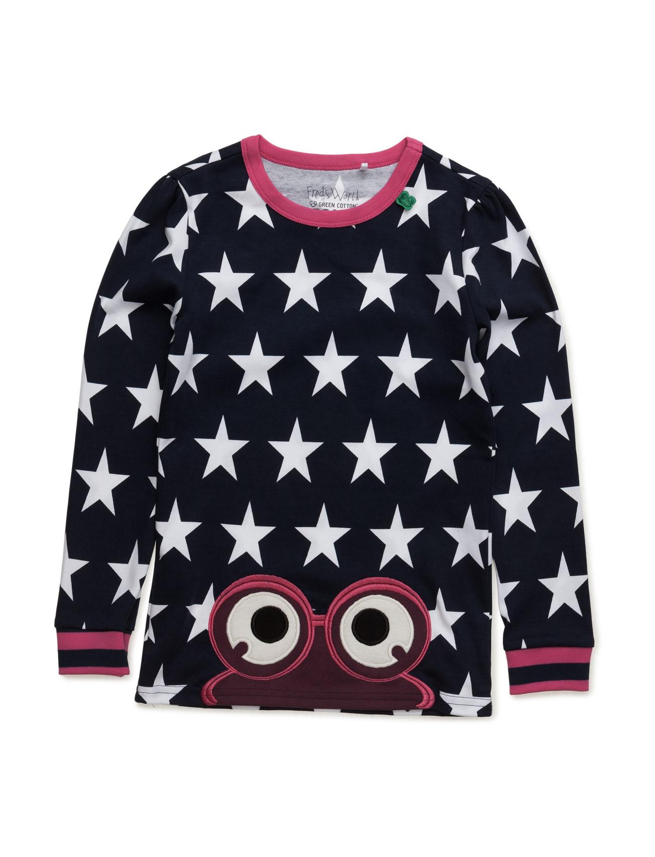 Star Peep T Girl Freds World Langærmede t-shirts til Børn i Magenta