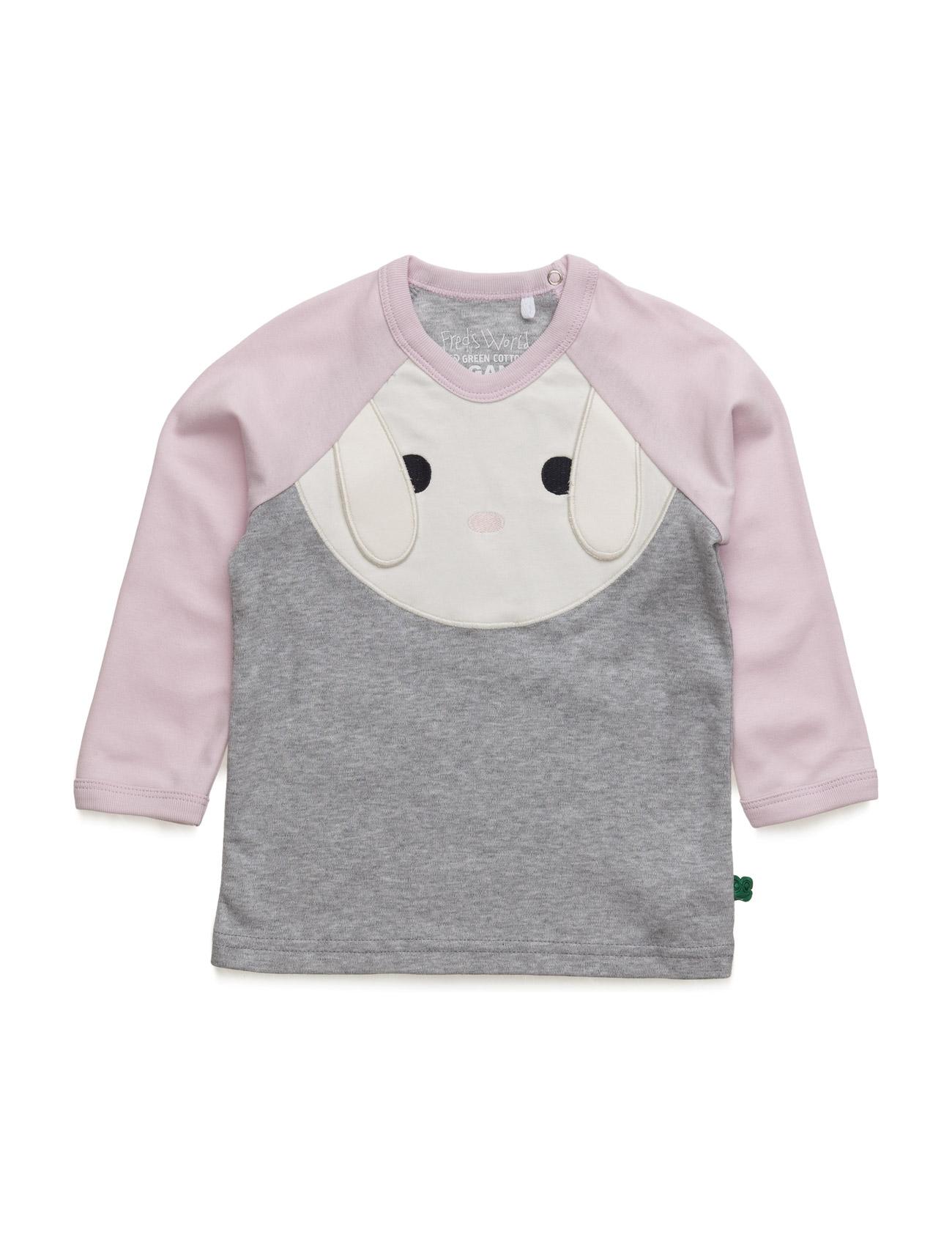 Bunny Front T Freds World Langærmede t-shirts til Børn i Pale Greymarl